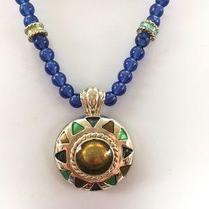 Jewelry - Blue Bead Focal Pendant
